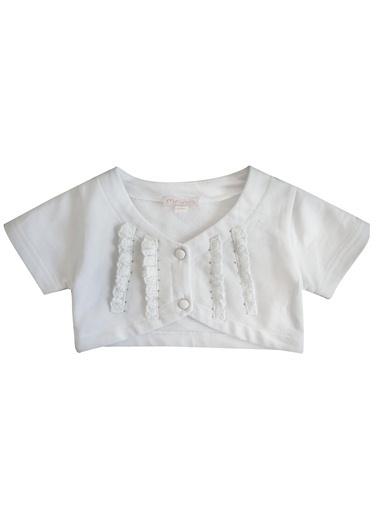Zeynep Tekstil Bolero Beyaz